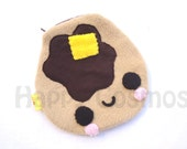 Pancake Pouch - Food Pencil Case, Kawaii Make Up Pouch, Coin Purse, Pencil Pouch, 3DS Case, Phone Case