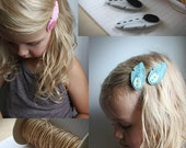 Feather Hair Clips - Choose Your Own Colors - Tribal Fashion - Little Girl Hair Accessory - Felt Feather Hair Clips - Hair Feathers