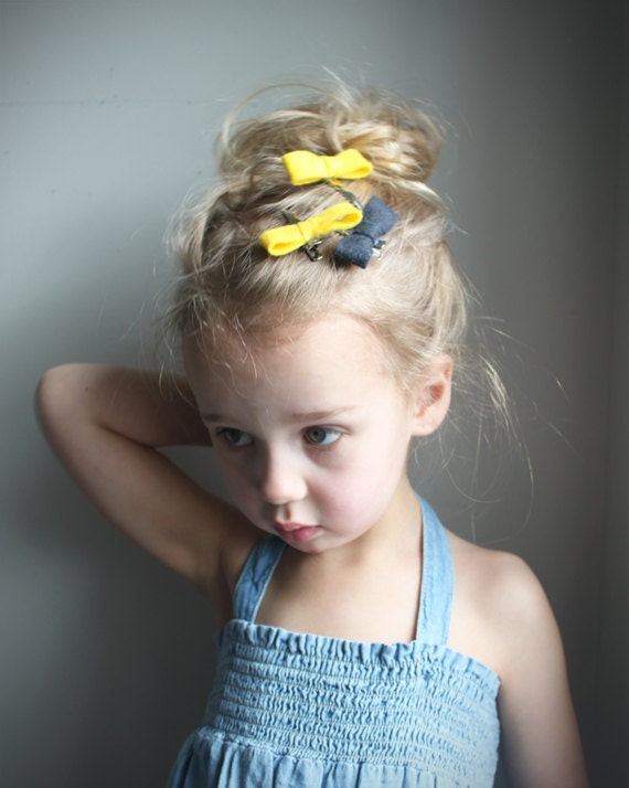 yellow hair style yellow mini bow hair in yellow hair bow 3634