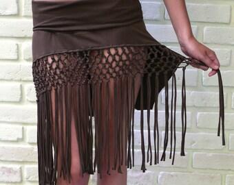 SALE- macrame skirt
