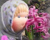 Lavendar Mossy Doll Waldorf Inspired Doll for the Smallest Child