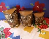 leonard solid brass owl figurines
