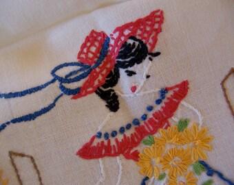 beautiful bonnet and dress table runner