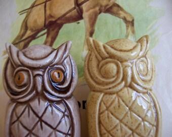 two ceramic owls