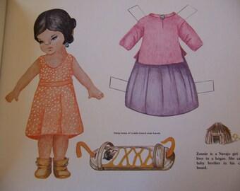indian children paper dolls