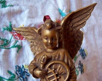 lovely gold angel ornament