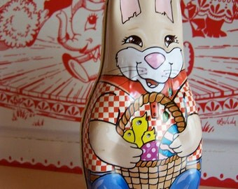 adorable rabbit tin