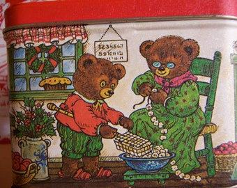 busy busy teddy bear tin