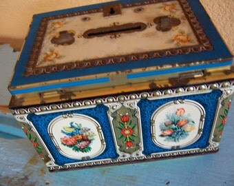 beautiful old hk vintage tin