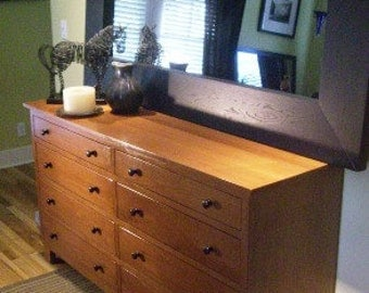 Handcrafted  Wide Dresser Solid Wood