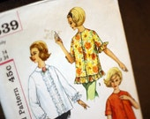 Simplicity 4539 Maternity Blouses Early 1960s