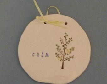 Calm tree plaque