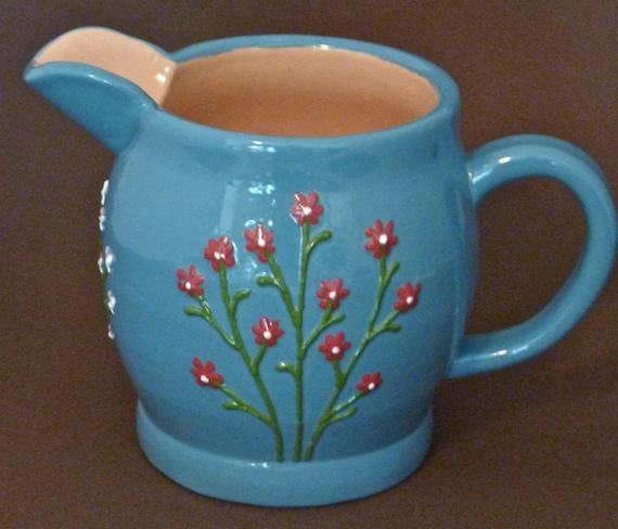 Flowered pitcher