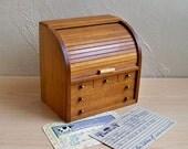 "Vintage Mini Roll-Top Desk Recipe Box- Card File ""Wonderful Retro Kitchen Kitsch"""