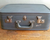 "Mid-Century Travel Joy Overnight Suitcase in Gray ""Small in Size, Big in Features"""