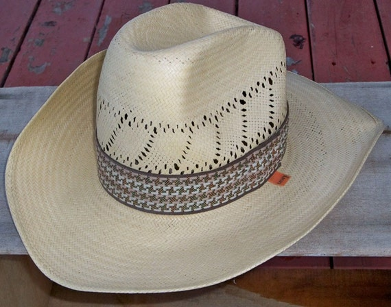 "Vintage Levis Straw Cowboy Hat - Size Small ""A Cool Hat for Sunny Climes"""