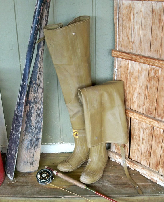 """Vintage Fishing Waders  """"Great for Lodge or Outdoor-Themed Decor"""""""
