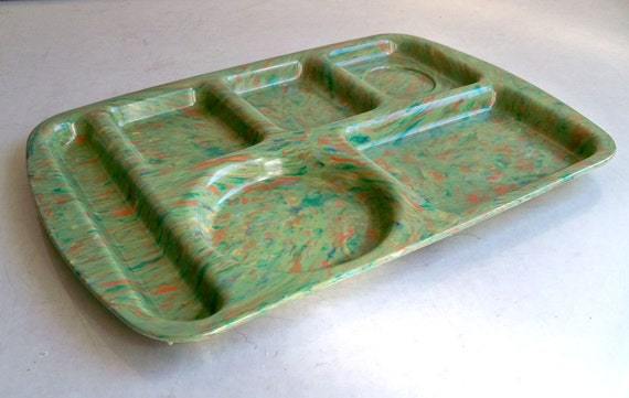 Cool Colorful Prolon Ware Melamine Cafeteria Tray