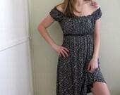 Vintage Grunge Floral Print Dress