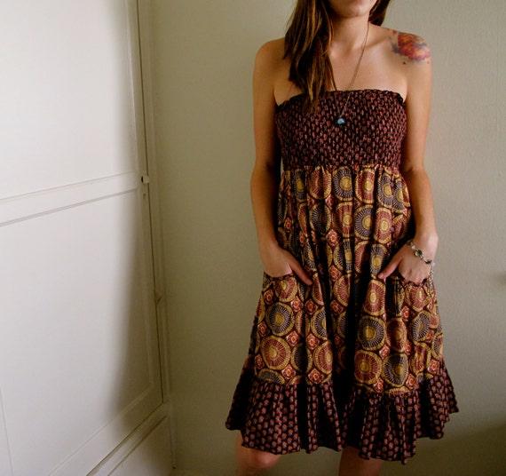 Multi Pattern Indian Dress