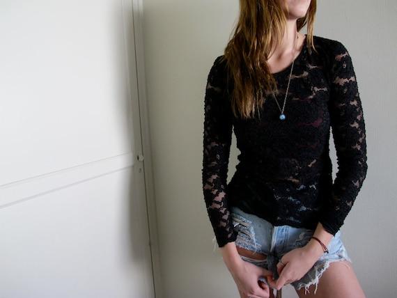 Long Sleeve Lace Blouse