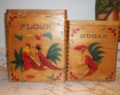 Vintage Wood Canisters