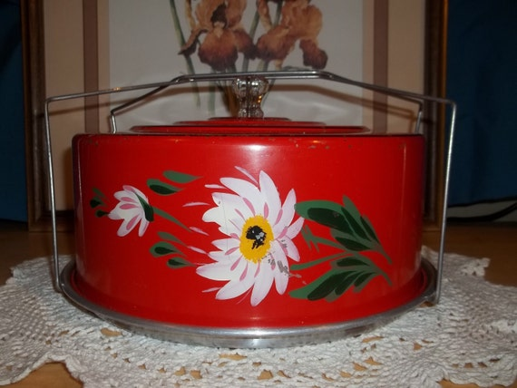 Vintage Covered Cake Plate