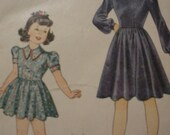 Vintage Simplicity 4033 Girls Dress Pattern Size 10