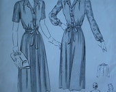 Vintage Butterick Womens Blouse and Frock Pattern Size 14