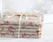 Ready To Ship - CD packaging - 10 linen fabric envelopes - floral CD envelopes