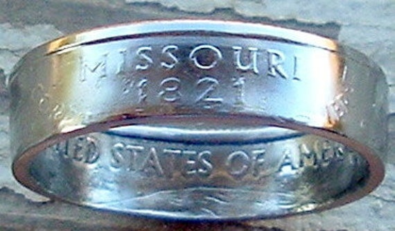 2003 Missouri State Quarter Coin Ring in a size 8 1/2
