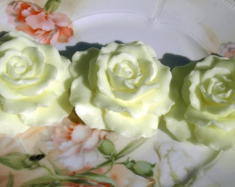 Rose Shaped Soap, Tulip Scent, 3 Piece Set