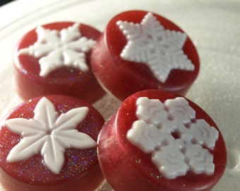 Christmas soap Snowflake shaped