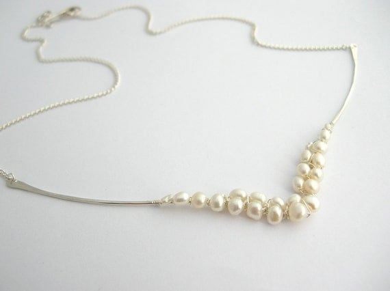 Fresh Water Pearl Wedding Necklace