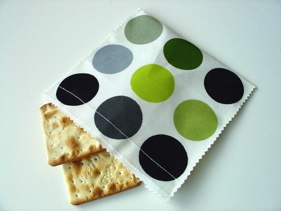 Reusable Oilcloth Sandwich / Snack Bag