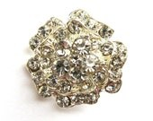 5 Rhinestone buttons for Wedding Decoration Invitation Card Ring Pillow Scrapbooking RB-019 (21mm or 0.8inch)