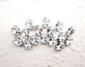 40 Rose Montees Oval 8mm x 6mm Rhinestone beads for Wedding Gown Jewelry Beaded Sash Shoes and Hair Accessories