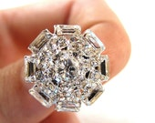 5 Rhinestone buttons for Wedding Decoration Invitation Card Ring Pillow Scrapbooking RB-033 (18mm or 0.7 inch)