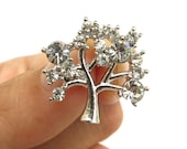5 Crystal Tree Rhinestone buttons - Wedding Invitation Card Hair Accessories Scrapbooking  Jewelry Supplies Garter RB-091 (20mm or 0.8 inch)