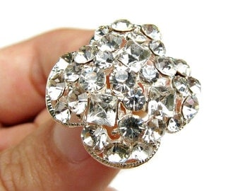 1 piece Crystal Rhinestone buttons for Wedding Decoration Invitation Card Scrapbooking Jewelry Supply RB-067 (22mm or 0.9inch)