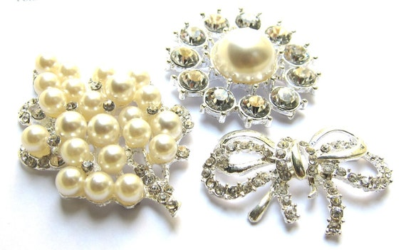 Crystal Rhinestones Buttons Brooch Assorted Set for Wedding Cake Decoration, Shoe Clip, Gift Box, Flower Bouquet, Ring Pillow, Photo Album