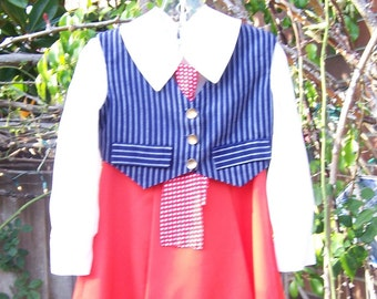 Vintage Patriotic Childrens Dress