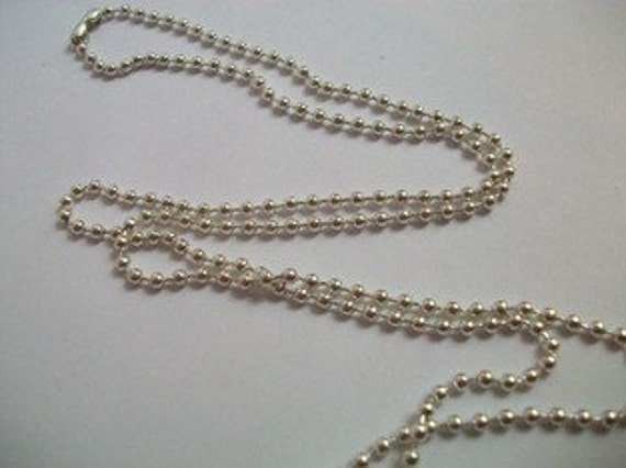 Silver Plated Ball Chain for Pendants - 24 20 18 or 16 inch - FREE SHIP with other purchase
