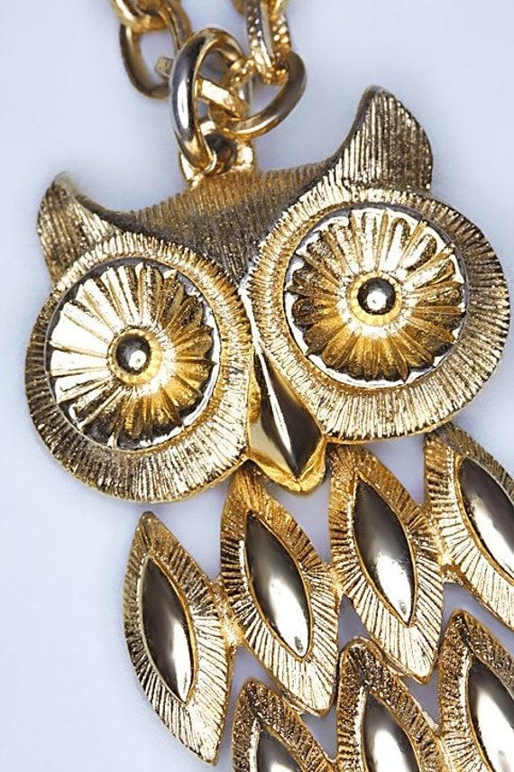 Sale Vintage Avon Owl Necklace
