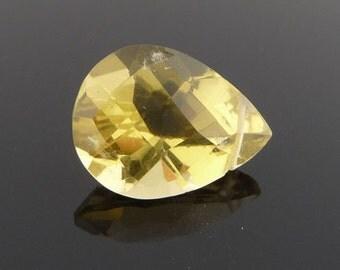 Lemon quartz lovely.... gorgeous faceted tear drop focal bead