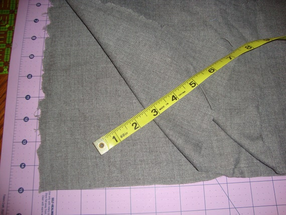 Vintage light weight Grey Wool Flannel fabric 44 in wide by 33 in long