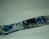 sale 20off - TOY LEASH ready-to-ship sophie/toy/sippy/snack/klean kanteen LEASH strap tether - blues peacock feather print
