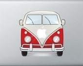 volkswagen surfer bus LAPTOP STICKER (VW Camper Van decal)