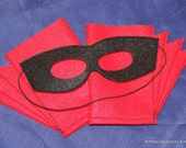Birthday Party Package of 8 Superhero Mask and Blaster Cuffs.