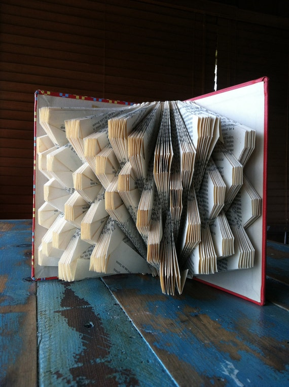 Squares - Uhuru: A Novel of Africa Today - Folded Book Art - Recycled, Repurposed, Reclaimed